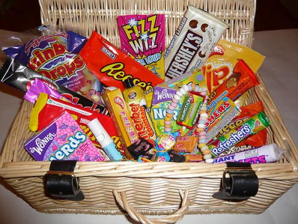 American candy and retro candy - Hersheys, Reeces, Wonka Nerds